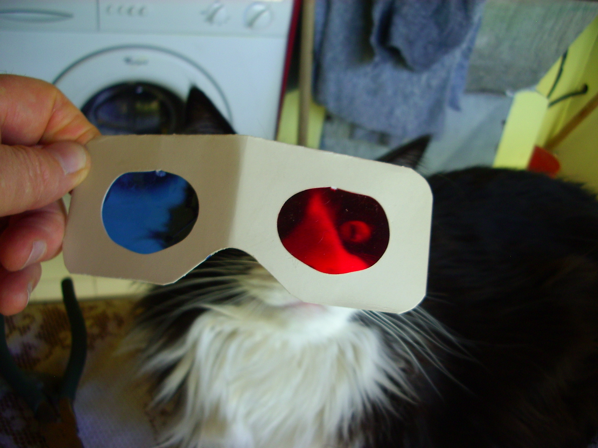 How I maked my red-blue anaglyph eyeglasses