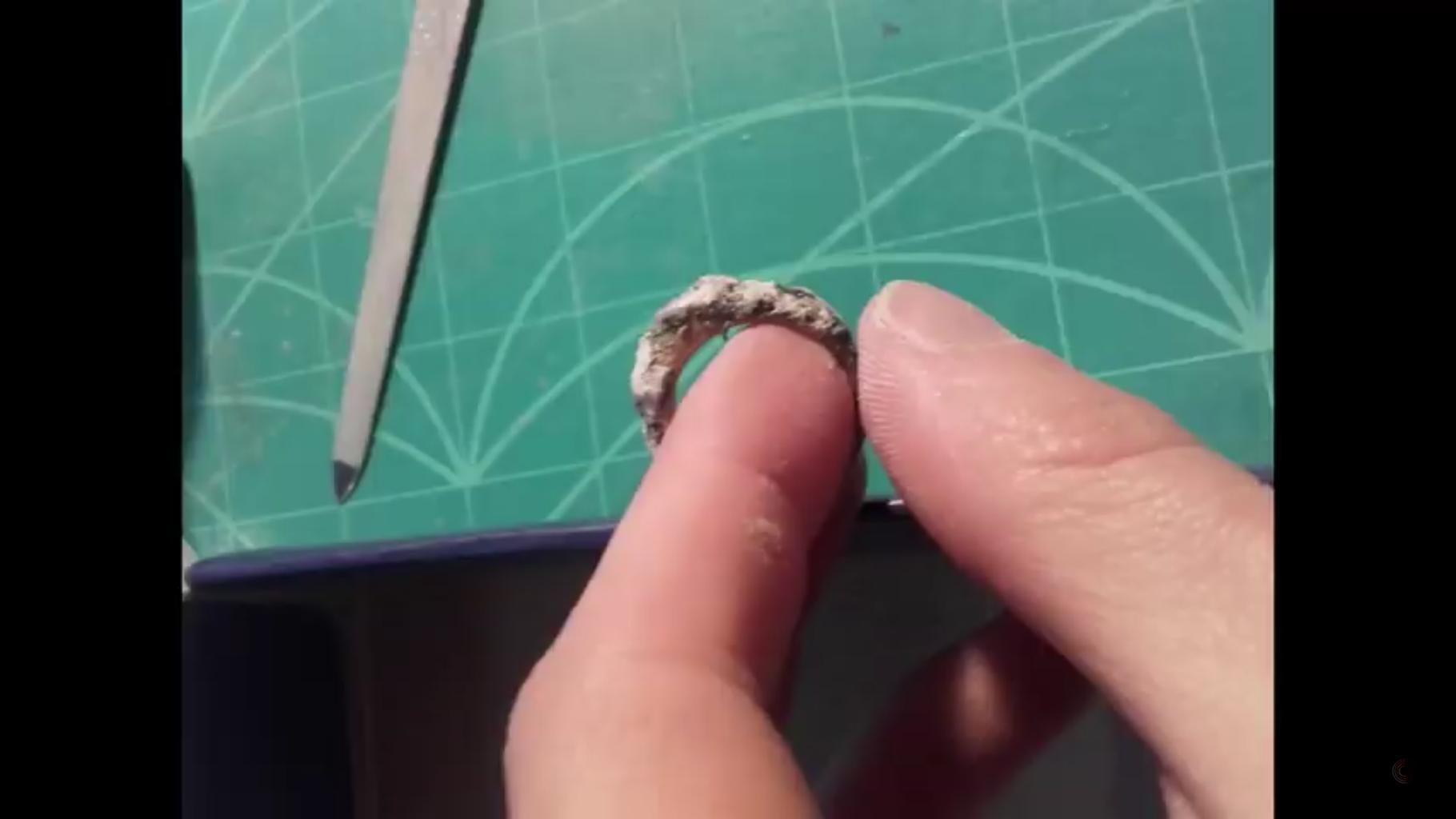 Glueing Stone Powder on That Thing
