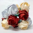 Paper Rose Wedding Bouquet and Buttonholes