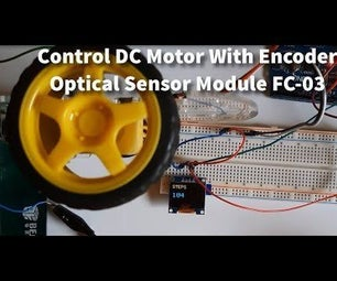 Control DC Motor With Encoder Optical Sensor Module FC-03