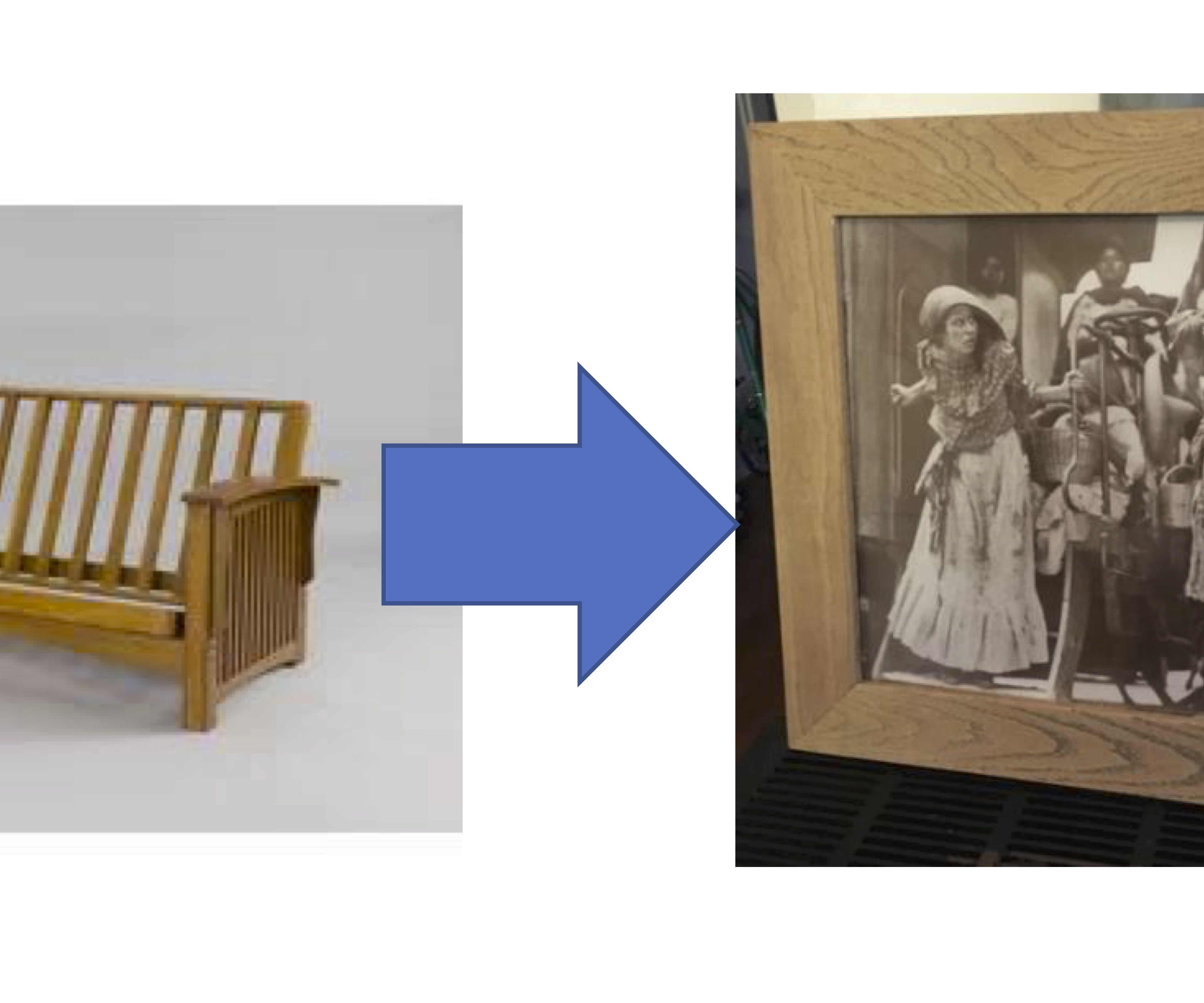 Recycled Wood Picture Frame