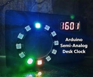 Arduino Semi-Analog Desk Clock
