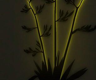 EL Wire Plant Lamp