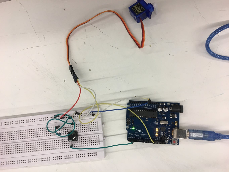 Servo Motor Arduino and Button/drawer Locker