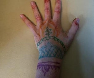 "Rainbow ""Henna"" Tattoos"