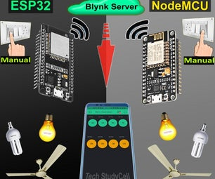 Blynk Home Automation With Multiple ESP32 NodeMCU IoT Projects 2021