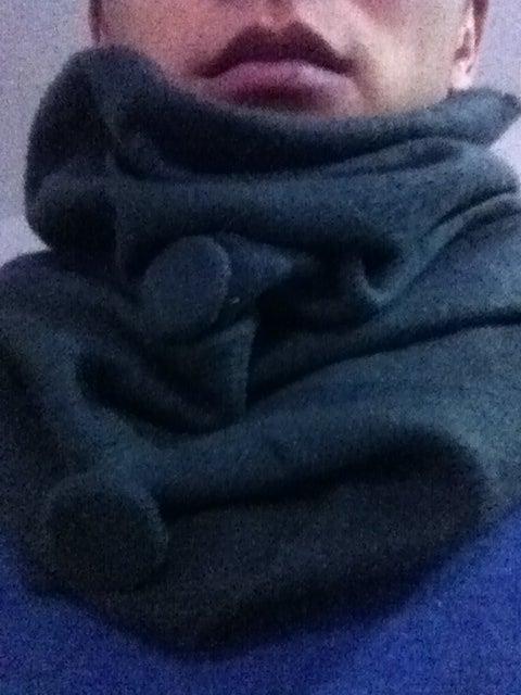 Convertible Winter Hat Scarf Hood