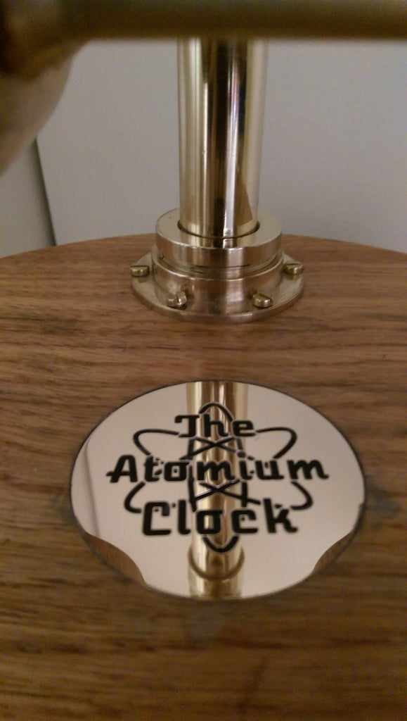The Atomium Clock Wood Finishing and Final Assembly.