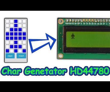 Char Generator for HD44780