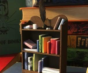 有书的微型书柜