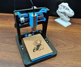 DIY迷你数控激光雕刻机。
