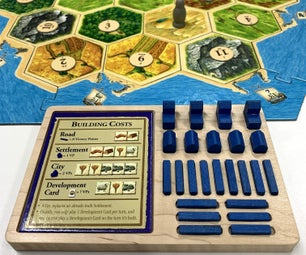 Settlers of Catan Table Top Game Piece Tray