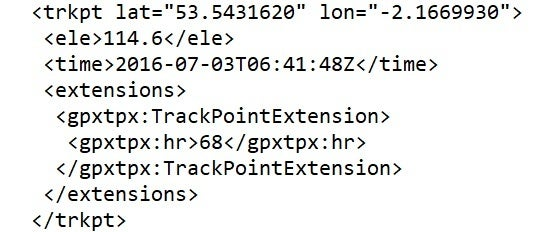 Parsing the GPX File