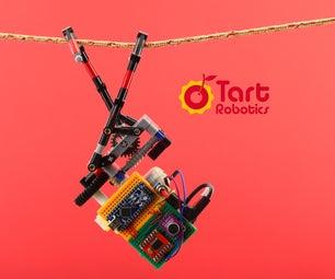 带Arduino、3D打印和乐高兼容部件的DIY拉链机器人