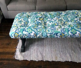 Adding Tufted Upholstery to an Old Coffee Table