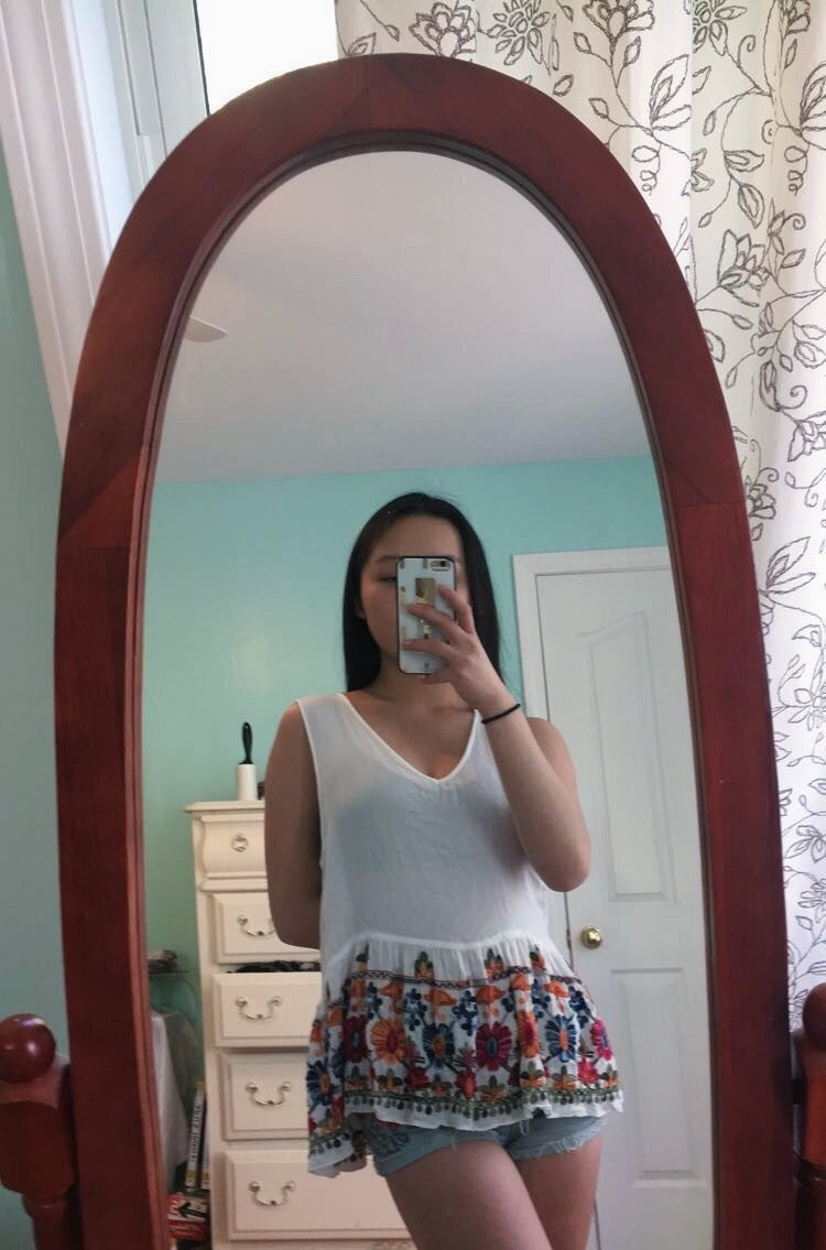 Upcycling Tank Tops: Ruched Bust Top