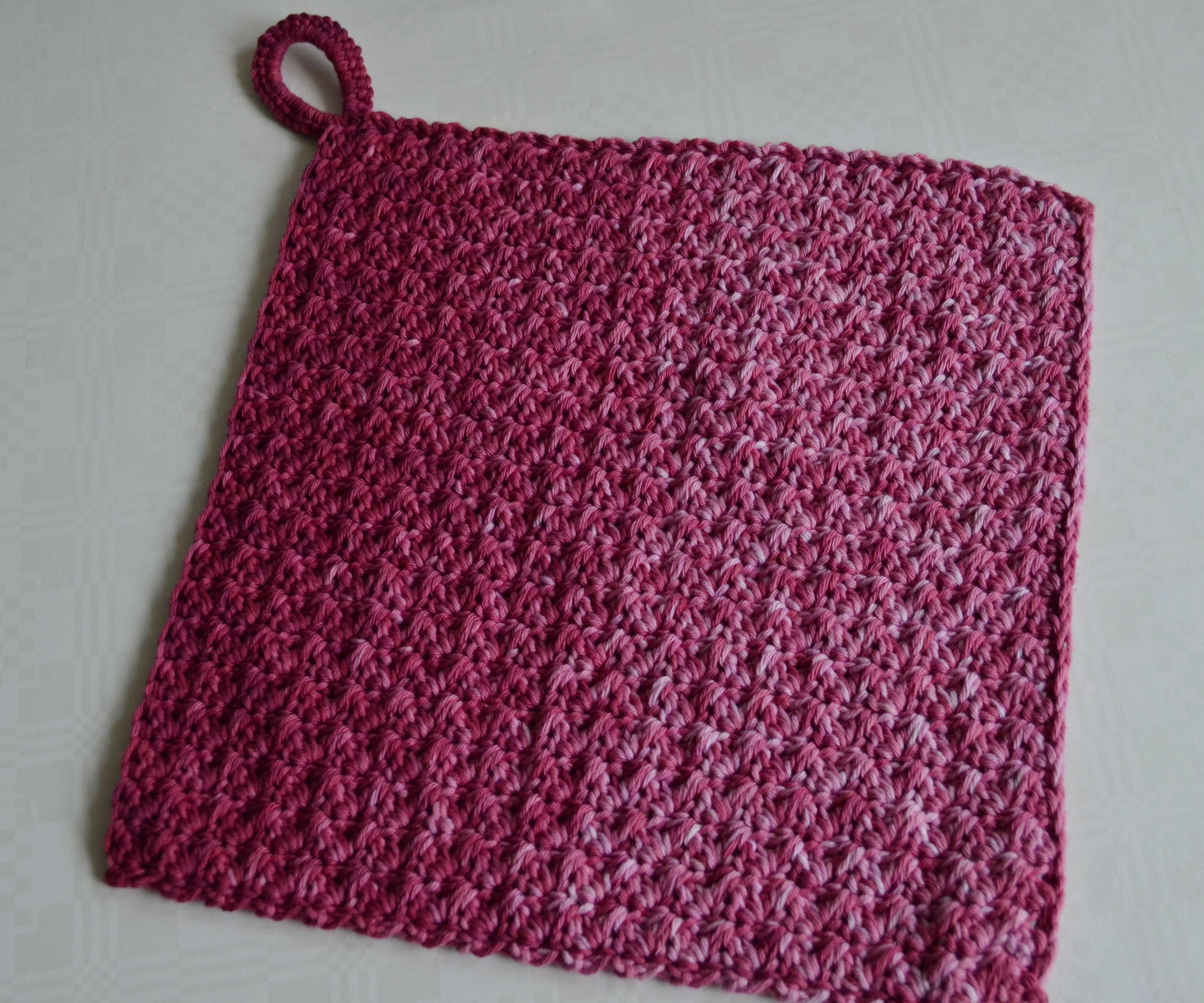 Textured Crochet Washcloth Using Cotton Yarn