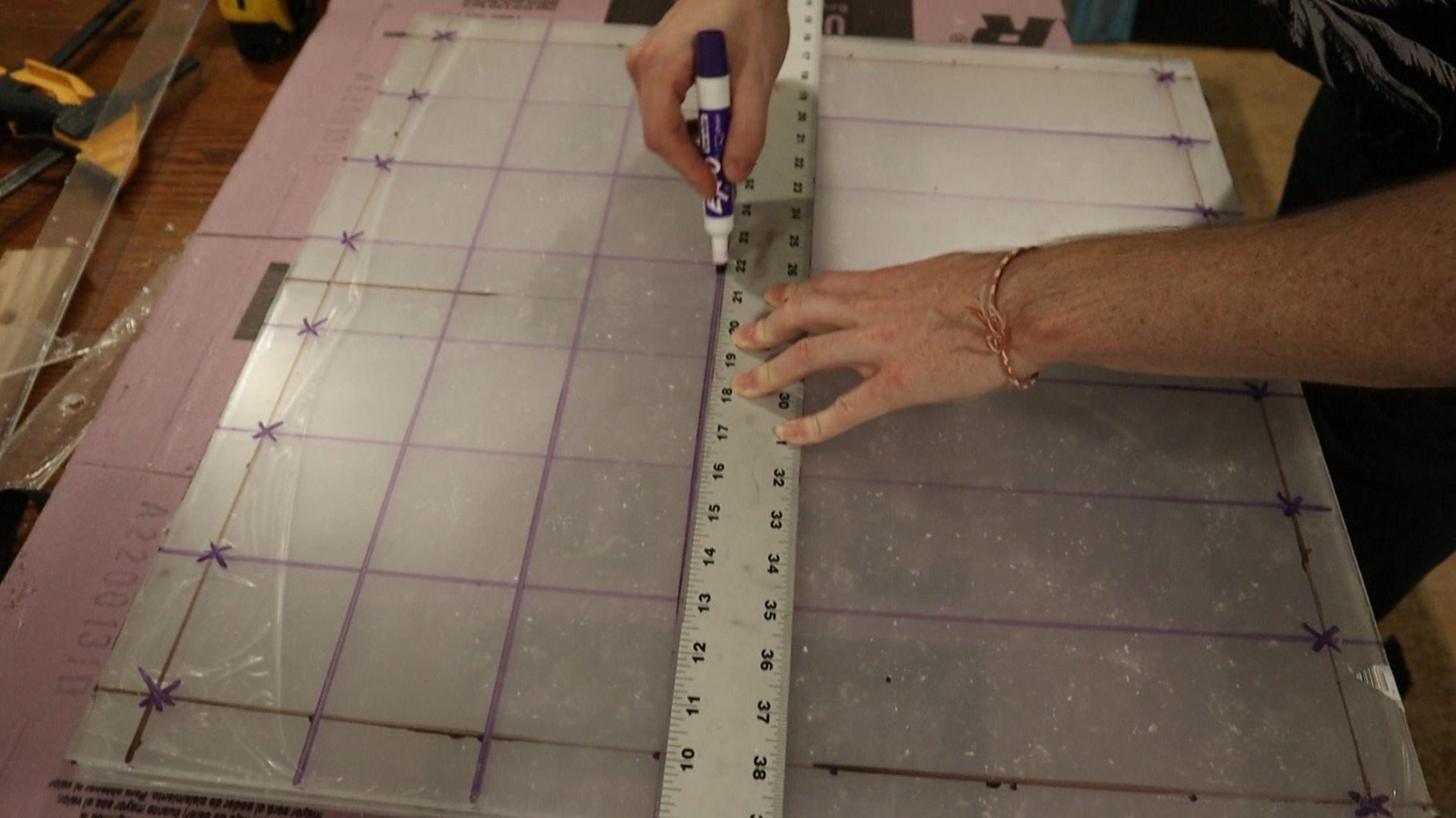 Measure Out the Holes for the LEDs