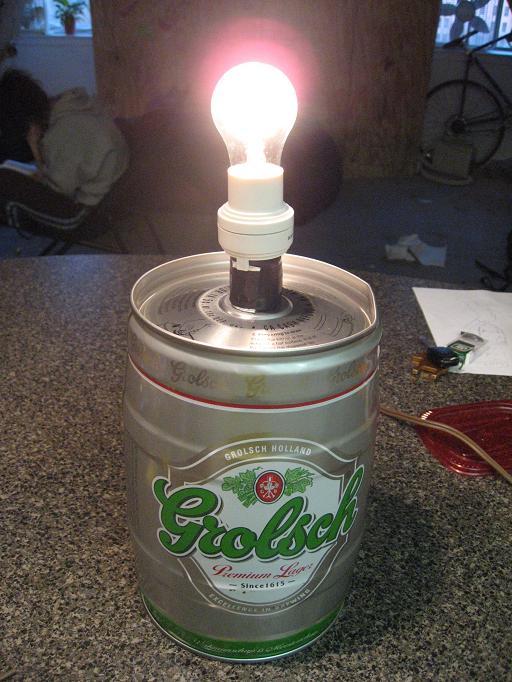 Mini Keg Touch Lamp