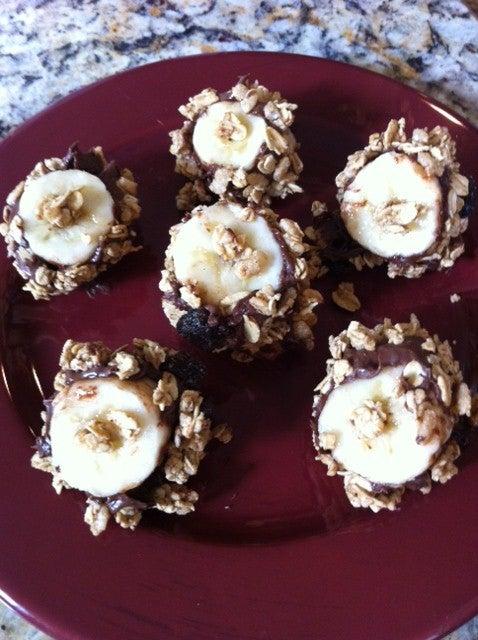 Granola Banana Nutella  Bites