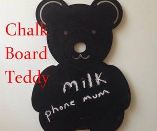 Cute Teddy Fridge Chalk Board