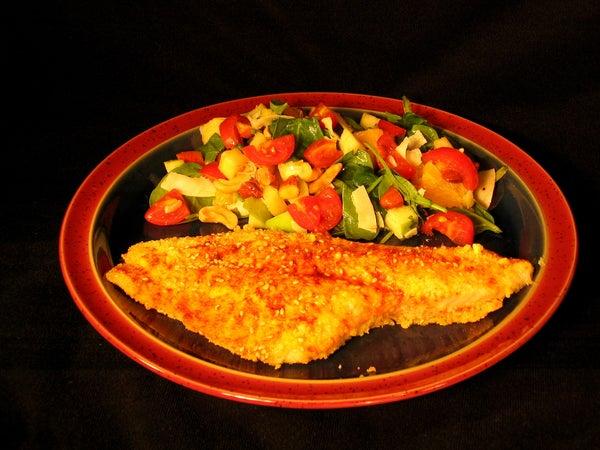 Cornbread Baked Catfish