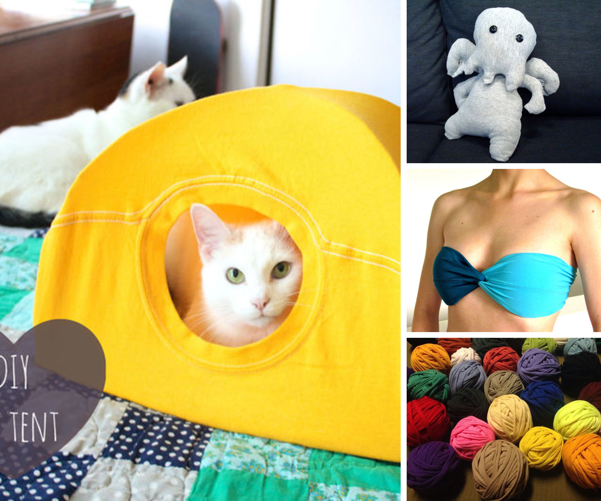 20 Unusual Uses for T-Shirts