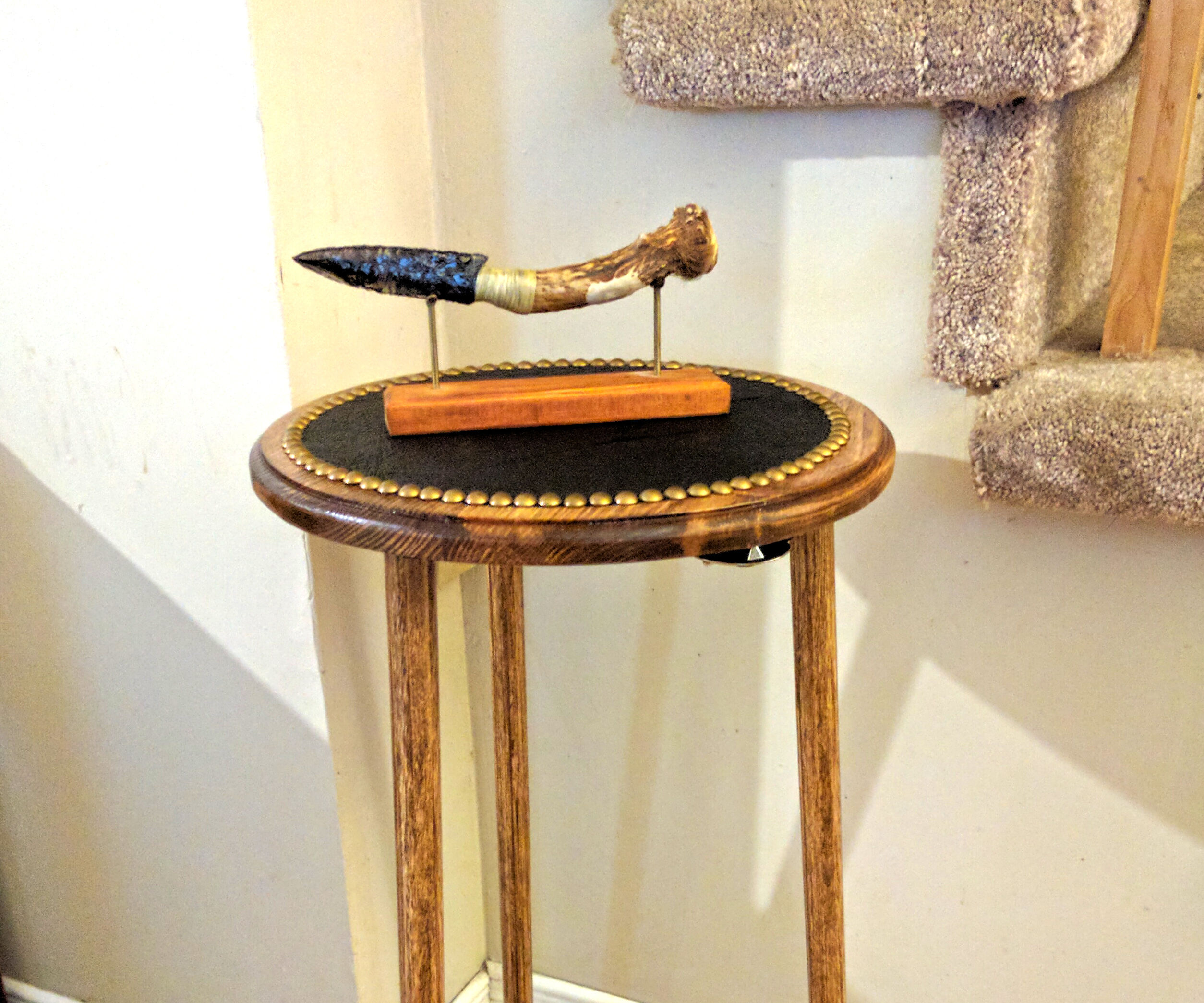 The Spartan Spear and Shield End Table