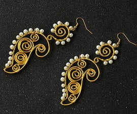 Beebeecraft Tutorial on How to Make Wire Wrapped Earrings With Pearl Beads