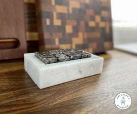 DIY Granite Whiskey Cubes With Marble Box