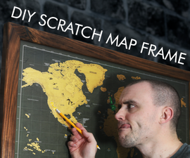 How to Make a Picture Frame for a Scratch Map