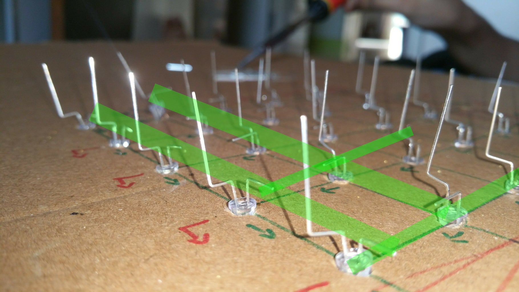 Arrangement of LED's in CUBE