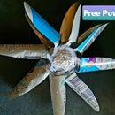 Electric Water Turbine From Beverage Cans