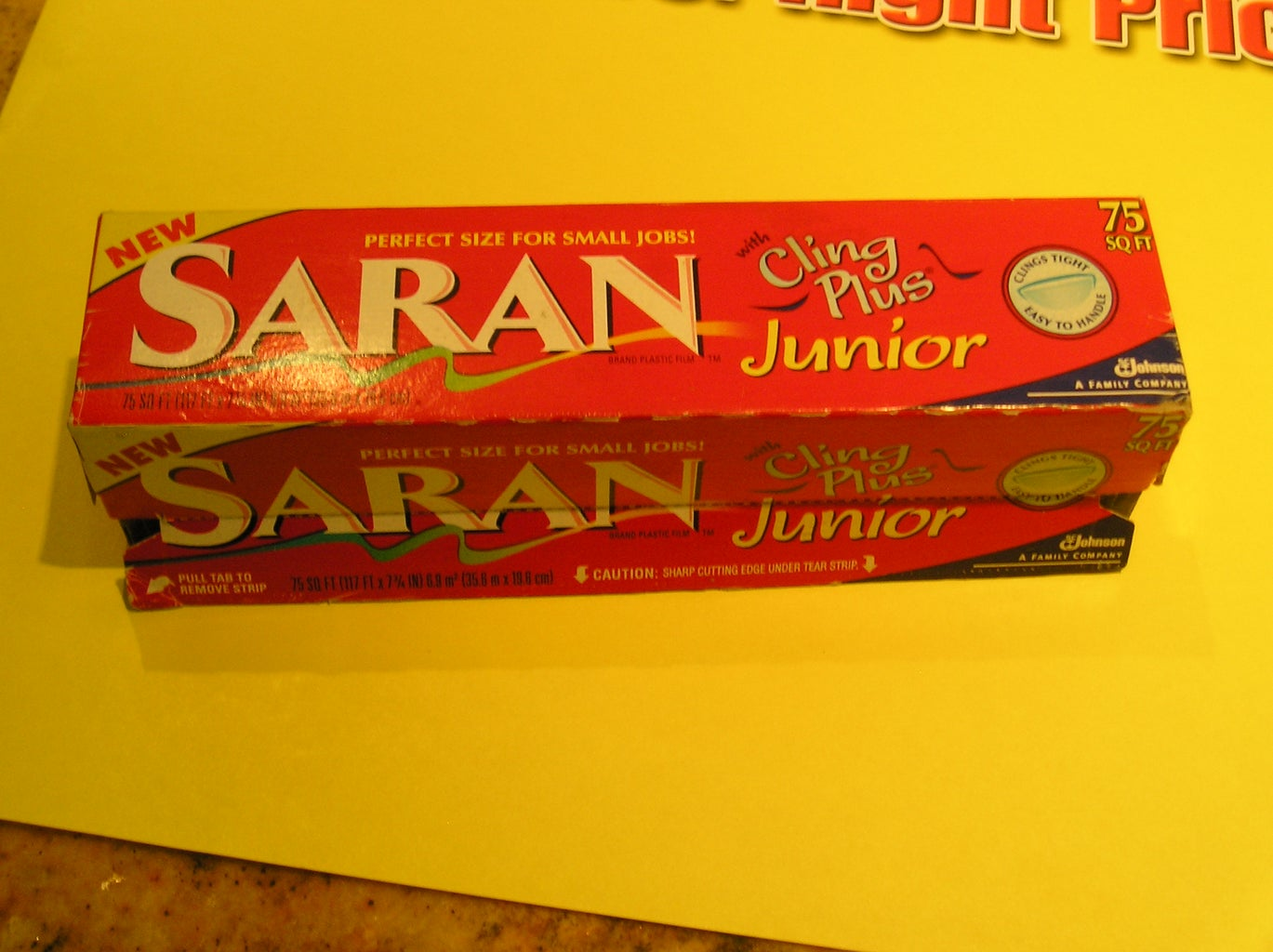 How to Mini-Size a Roll of Saran Wrap