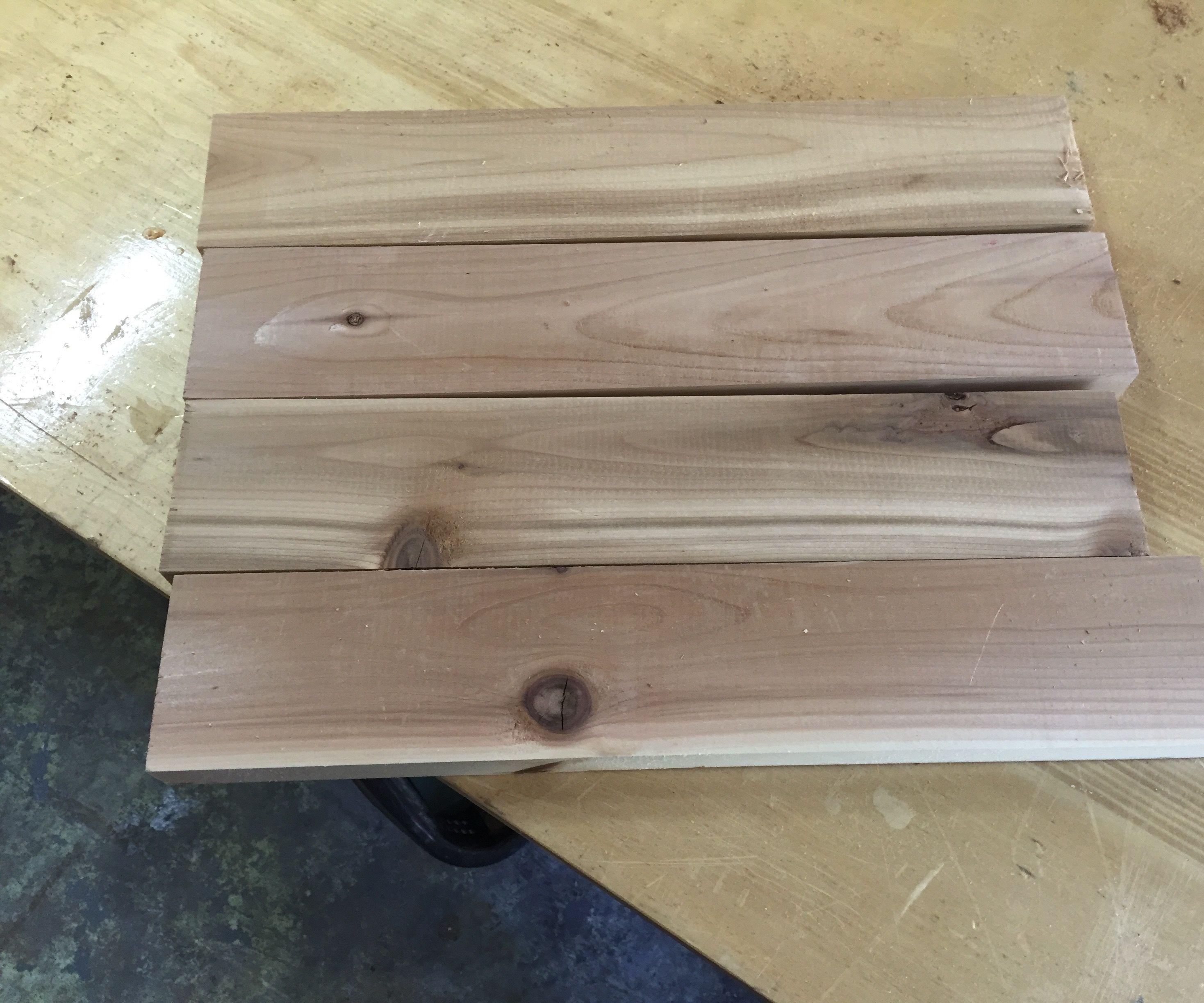 Cedar wood picture frame
