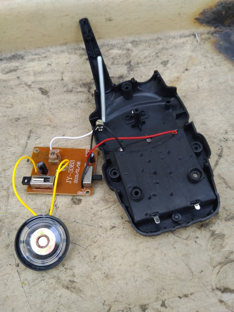 Walkie Talkie Disassembly