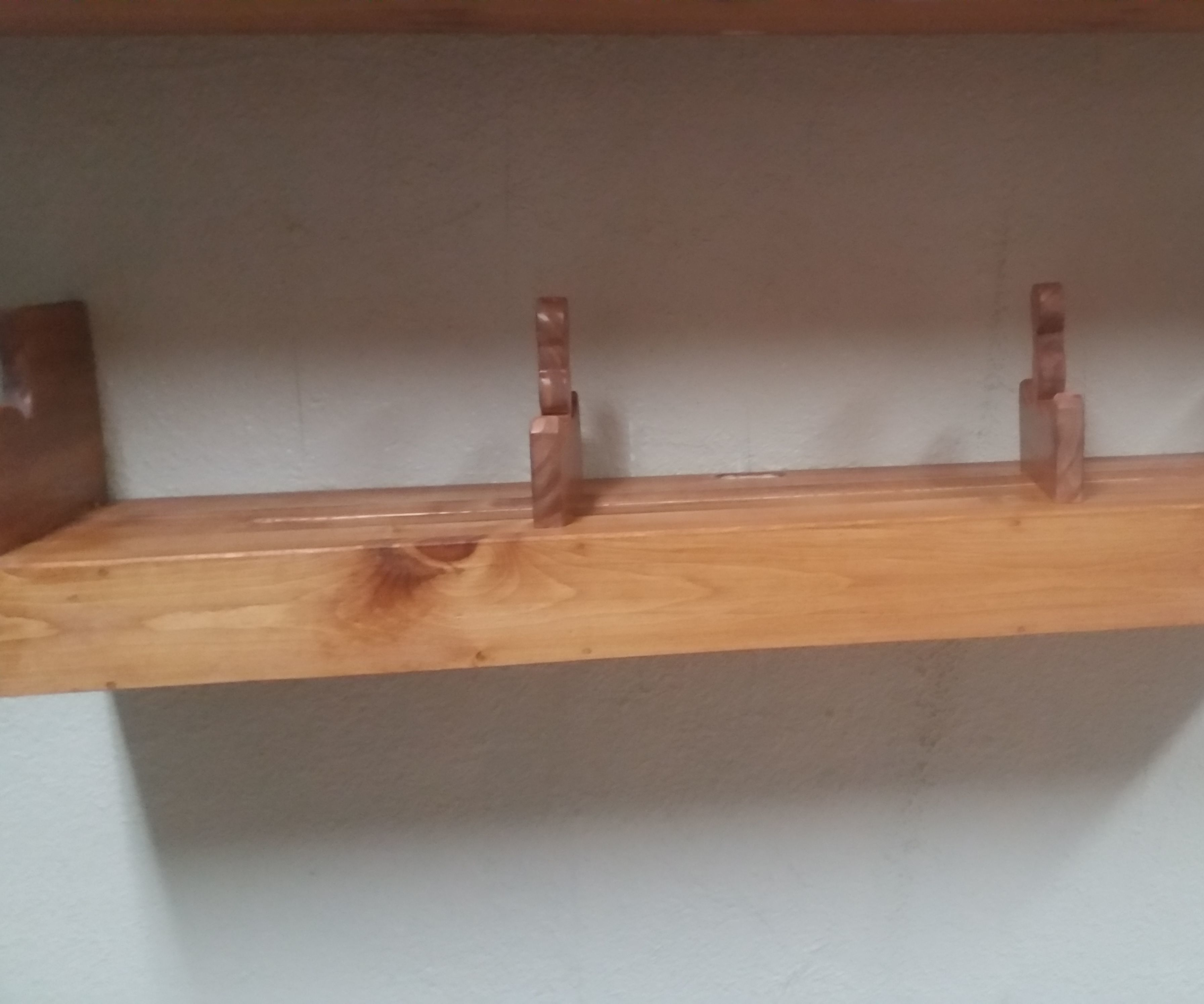 Floating Shelf #2 - the one with the sliding book ends
