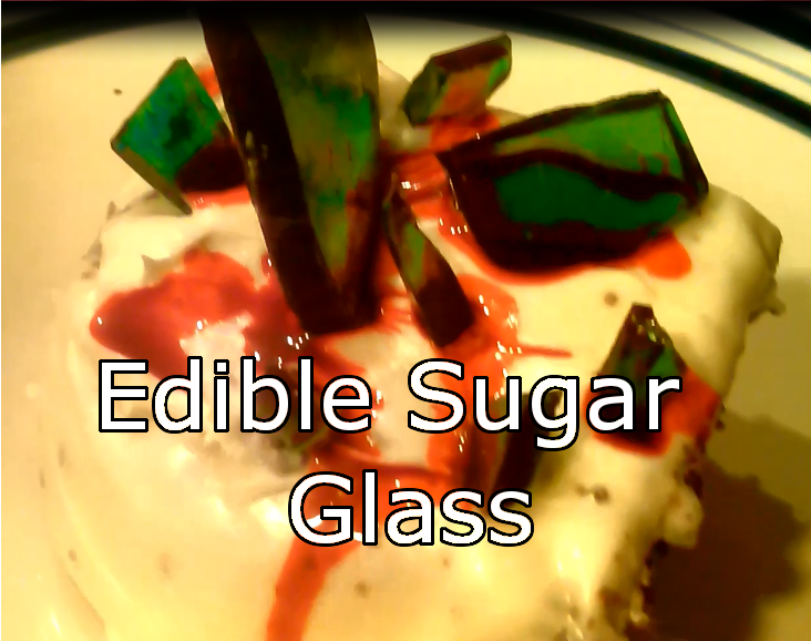How To Make Fake, 100% Edible Glass From Sugar