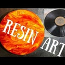 Sun Inspired Resin Art on an LP Record