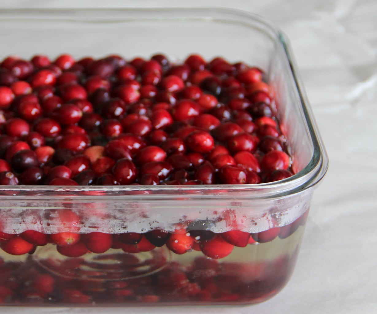 Make the Simple Syrup and Prick the Berries