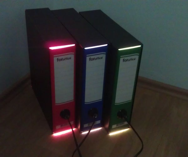 How to Create a Color Lamp From Folders?