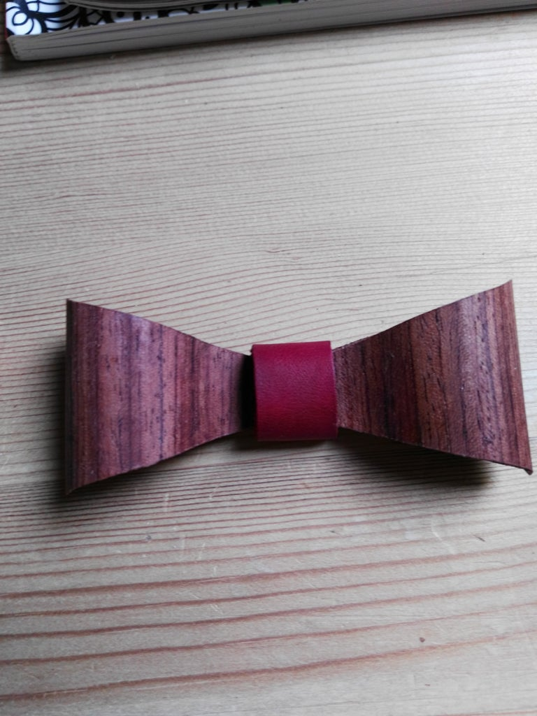 Making of the Wood Bow Tie