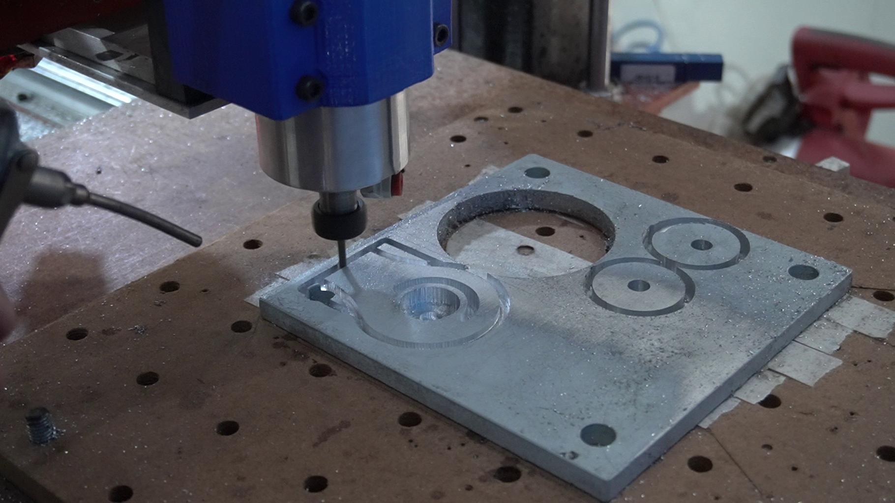 Machining the Aluminium to Make Jig
