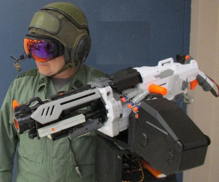 Heads Up Display (HUD) Control for Nerf Vulcan Sentry Gun