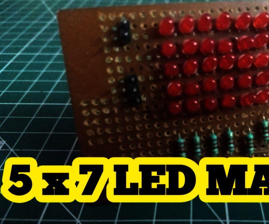 Led Matrix Using Arduino (5 X 7)