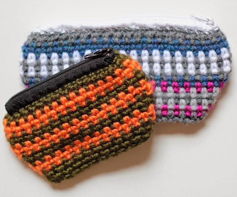 DIY Zipper Crochet Change Purse