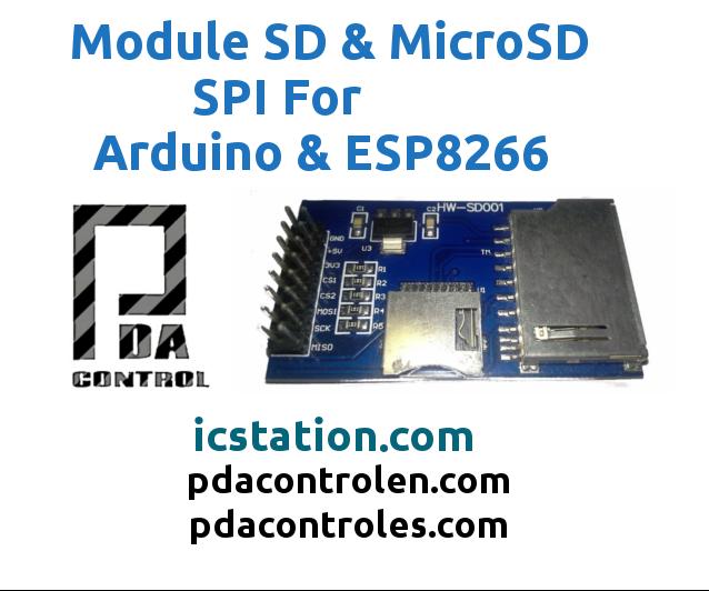Test Module SD / MicroSD Via SPI for Arduino & ESP8266
