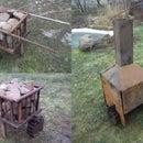 Mobile fireplace for smoke sauna