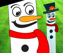 Frosty the Snowman: Pallet Wood Lawn Ornament