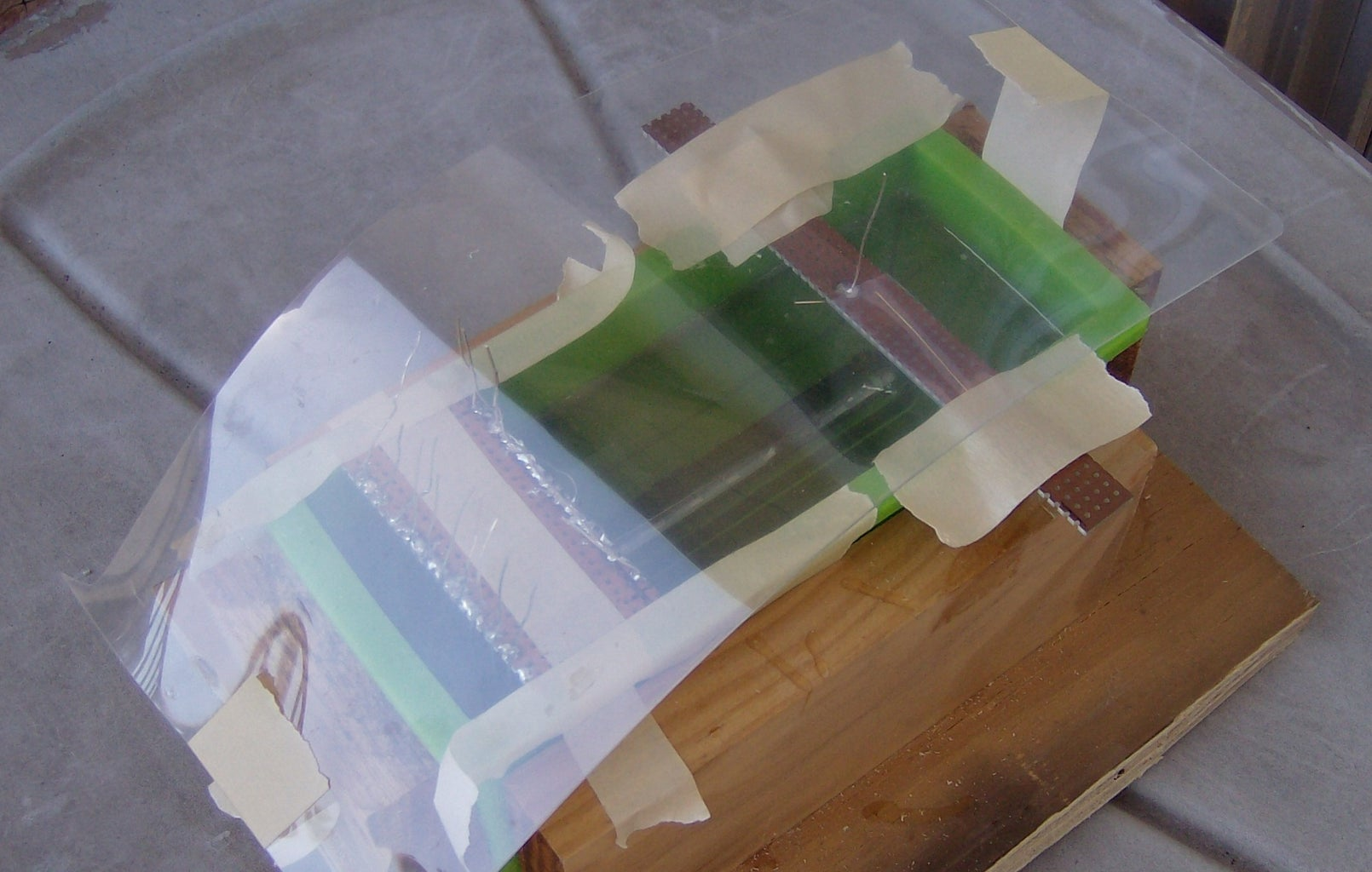 Immediately After Pouring the Resin: Attach Standoff Jig